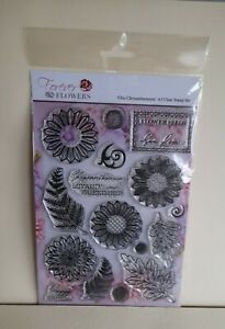 Forever Flowers Chic Chrysanthemums A5 Clear Stamp Set