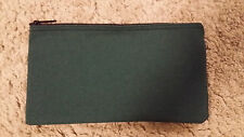 1 Brand New Heavy Green Canvas Bank Deposit Money Bag Zippered