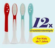 12 x Aufsteckbürsten passend Philips Sonicare for Kids HX6044 Ersatzbürsten