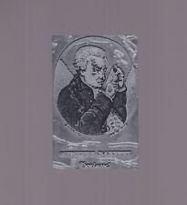 vecchio cliché timbro tipografico per stampare GIUSEPPE BARETTI torinese
