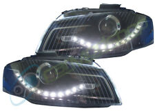 Eagle Eyes Rhd Projector Headlights LED DRL Black For Audi A3 2003-2008 8P