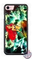 Disney Princess Ariel on Rock Phone Case for iPhone X 8 PLUS Samsung Google etc
