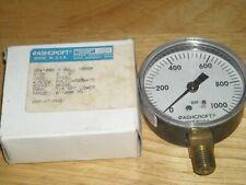 Ashcroft 25W1005 H 02L 1000PSI gauge NOS