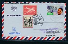 09658) Lauda Olympiade So-LP Wien - Sydney 15.9.2000, Aer. Indonesien Millenium