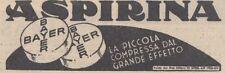Y3721 Aspirina Bayer - Pubblicità d'epoca - 1937 vintage advertising
