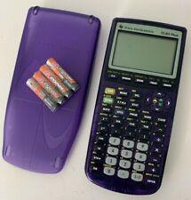 Texas Instruments TI-83 Plus Graphing Calculator Purple Transparent w/ Batteries