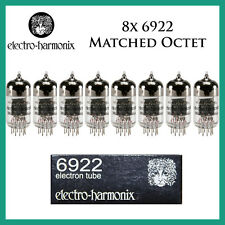 New 8x Electro Harmonix 6922 / 6DJ8  | Matched Octet / Eight Tubes