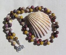 """Mookaite Jasper Crystal Gemstone Statement Necklace """"Desert Sands"""""""