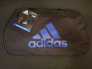 Adidas Diablo Black Blue Small Duffel Bag Gym Bag