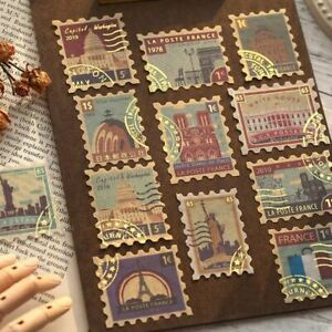 Decorative Travel, Stamp, Nature, Plant Journal Stickers