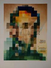 Salvador Dalì, Gala regardant, 70x100 cm, autentica, granolitografia a colori