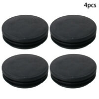 4pcs Round Tubing Plastic Plug Tube End Cover Cap Post Pipe Fence Chair Black