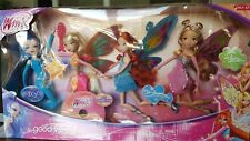 "Winx Club Good vs Evil 4 Pack Icy Bloom Stella Flora 11.5"" Enchantix Dolls New"