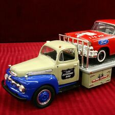 RARE - FORD ECONOMY 56 STOCK CAR & 51 FORD TRUCK SET - First Gear  NASCAR NHRA
