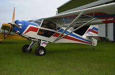 Kitfox Lite Squared Denney Airplane Desktop Kiln Dry Wood Model Big New