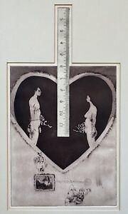 Howard Ikemoto Art Print 2 Figures1966 Intaglio Victor Harlow Santa Cruz CA