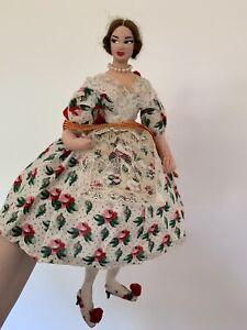 Vintage Cloth Lady Greek Doll ~ 30 Cm