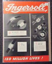 """1937 Ingersol Mickey Mouse Watch 2pg Ad 20x14"""" VG/FN 5.0 Clock"""