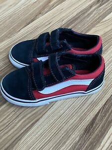 VANS Sneakers Black Red White Toddler Boys Sz 9