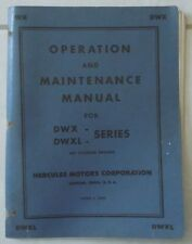 HERCULES ENGINE DWX DWXL SERIES OPERATION & MAINTENANCE MANUAL 6 CYLINDER ENGINE