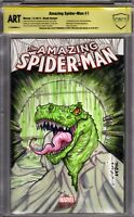 Amazing Spider-Man #1 Blank - CBCS ART - Lizard Sketch by Elliot Fernandez