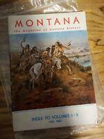 Montana, the Magazine of Western History, Index to Vol I-X 1951-1960