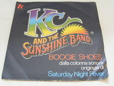 KC & THE SUNSHINE BAND Boogie Shoes Ex+ TK Records 1978 UK P/S 7""