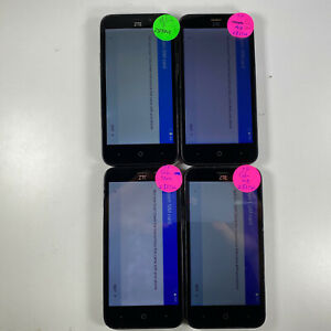 Lot of 4 Google Locked ZTE ZFive 2 LTE Z837VL Tracfone *Check IMEI*