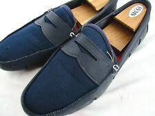 $169 Swims Breeze Penny Loafers Boat Shoes Navy Blue SZ 10