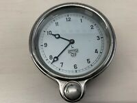 Smiths Dashboard Car Clock - 12 hr - Winds Up - Chrome front brass coloured rear