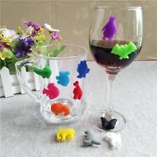 12pcs Animals Shape Vacu Vin Glass Markers Classic Grapes Wine Charm Q