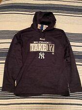 NWT New York Yankees Majestic Playoffs Hoodie Sweatshirt Pullover Size Medium