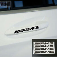 4PCS Emblem Aufkleber AMG für Mercedes Benz Chrome Logo Schriftzug Plakette Neu
