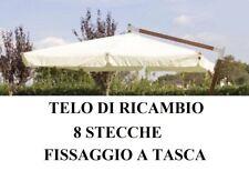TOP TELO RICAMBIO OMBRELLONE DECENTRATO LEGNO 3x4 CON AIRVENT ECRU 380GR/MQ