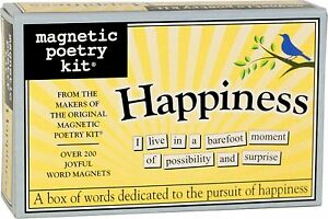 Magnets/Fridge Magnets  - Magnetic Poetry Kit - HAPPINESS