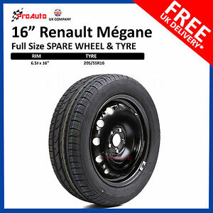 """Renault Megane 2008 - [current] FULL SIZE STEEL SPARE WHEEL 16""""  AND TYRE"""