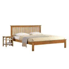NEW Oak Finish Wooden 4'6ft Double Shaker Bed Frame SUPER DEAL
