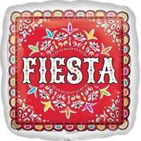 FIESTA PICADO DE PAPEL FOIL BALLOON PARTY DECORATION MEXICAN  SQUARE 43CM