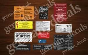 BMW E24 M 635CSI Engine Bay Set Sticker Adhesives Aufkleber
