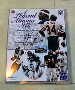 "Walter Payton Signed Autographed ""8X10 Photo ""Collage"" Legend Among Us Bears COA"