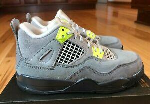 Nike Jordan 4 Retro SE PS Cool Grey Volt Wolf Grey CT5344 007 Size 11C