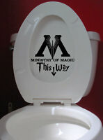 Wall Stickers Harry Potter Ministry of Magic Bathroom decal vinyl decor Nursery