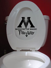 Wall Stickers Harry Potter Ministry of Magic Bathroom decal vinyl decor Nursery