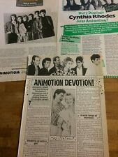 Animotion, Lot of THREE Full Page Vintage Clippings