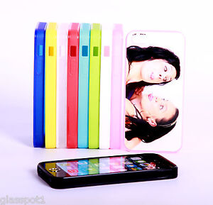 PERSONALISED CUSTOM PHOTO & TEXT case cover fits iPhone 5S Silicone Soft Rubber