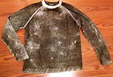 PURE STUFF Cotton Crewneck Sweater Gray/Green Marble Color Size L