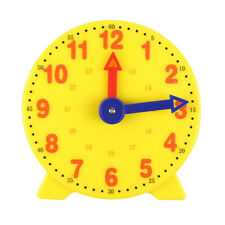 Children Educational Toys Gift Clock Learn Time Math School Teaching Teacher Aid