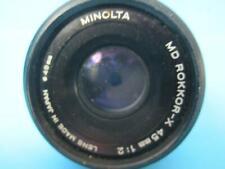 Minolta MD Mount Rokkor-X 45mm 1:2 Prime Full Frame Lens F2 f/2 GREAT SHAPE!!
