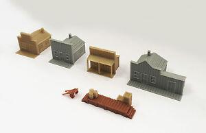 Outland Models Modelleisenbahn Miniatur Westlichen häuser Spur Z 1:220