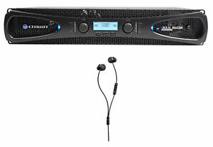 Crown Pro XLS1502 XLS 1502 1550w DJ/PA Power Amplifier+Beyerdynamic Earbuds